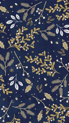 Winter floral with a navy background
