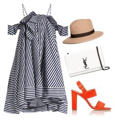 """Sin título #1183"" by mariam-magana on Polyvore featuring moda, MSGM, Yves Saint Laurent, Manolo Blahnik y Brooks Brothers"