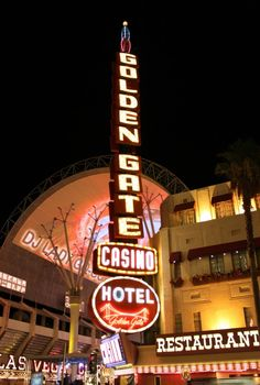 Golden Gate Hotel and Casino on Fremont Street in Downtown Las Vegas, Nevada
