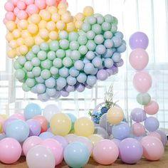 Items similar to Rainbow Balloon Garland DIY Kit Unicorn Party Balloons Latex Balloon Decor Baby Shower Wedding Bridal Shower, Inch on Etsy Rainbow Balloons, Confetti Balloons, Balloon Garland, Balloon Arch, Balloon Tower, Diy Garland, Balloon Decorations, Wedding Balloons, Birthday Balloons