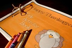 """Free Printable Thanksgiving Booklet for your kids.  A great way to keep them busy while they are sitting """"nicely"""" at the Thanksgiving table.  :)"""