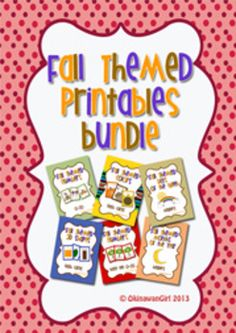 Transform your class into a fabulous fall themed room with these resources made using fall themed colors and graphics.