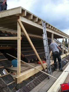 loft conversion flat roof dormer in build #5