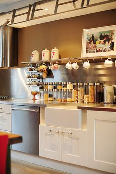 open kitchen storage / shelf