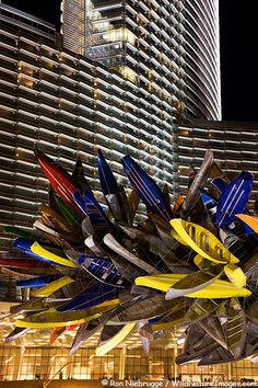 Canoe statue in front of the Aria Hotel and Casino, City Center, Las Vegas, Nevada