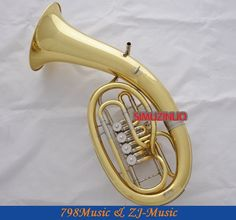 806.55$  Watch more here - http://aimsd.worlditems.win/all/product.php?id=32400210573 - Professional Gold Rotary Bb Key Euphonium White Copper Cylinder With Horn Case