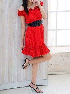 Nice Western teenage dress red dress... Check more at http://24shopping.ga/fashion/western-teenage-dress-red-dress/