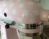 Kitchen Mixer / Appliance Removable Vinyl Decal / Sticker - Polka Dots (for Cuisinart, KitchenAid, Kitchen Aid, other appliances)