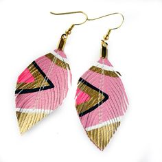 Neon Aztec   Cotton Candy  3 inch  Hand Painted Faux by lovesexton, $24.80