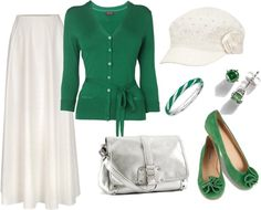 """Day Out 2"": 2013 Panatone's color of the year - Emerald. by younghomemakers on Polyvore"