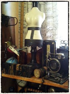"""Tim Holtz is a genius. NOW I understand why I collect such cool but """"completely useless junk."""" It INSPIRES me... Huh. A muse. Inspiration. Hmmm... maybe it IS important!"""