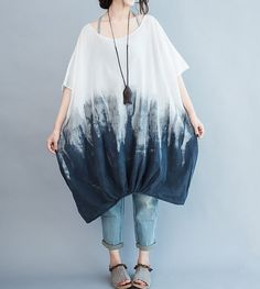 Cotton oversized Loose Fitting short sleeves lantern by MaLieb