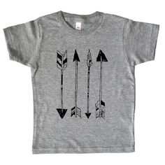 Arrows - Boys or Girls Native America / Arrows / Archery Shirt - American Apparel Tri Blend Kids Arrow Tee Shirt   // by the Kids Next Door    We