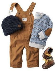 Overalls, little boots, and the sweater with the elbow patch! Perfect fall outfi… Overalls, little boots, and the sweater with the elbow patch! Perfect fall outfit for my little guy :) - Cute Adorable Baby Outfits Baby Boy Fashion, Fashion Kids, Man Fashion, Fashion 2016, Fashion Fall, Ladies Fashion, Color Fashion, Toddler Fashion, Curvy Fashion