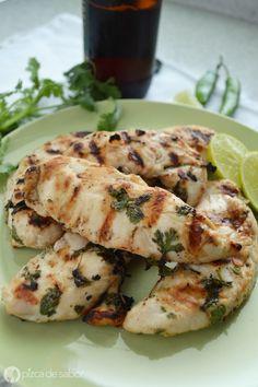 Pollo a la cerveza y limón | http://www.pizcadesabor.com