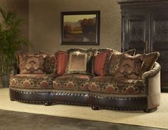 Large sofa or couch, high stylin furniture