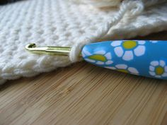 Crochet Hook Polymer Clay Handle Size H  5mm by daisychainzcrochet, $8.00