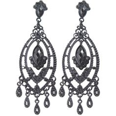 Amazon.com: Gothic Victorian Black Beaded Chandelier Cocktail Party... (€13) ❤ liked on Polyvore featuring jewelry, earrings, chandelier earrings, goth jewelry, special occasion earrings, beaded chandelier earrings and victorian jewellery