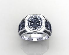Harley Davidson  MotorCycles Ring There is 2 Metals Versions. Nigel Brass Metal and Sterling Silver 925 kt. Metal . Which metal you want to choose your ring  and than purchase it.  All my  jewelry designs made to order . Anything want to know please feel free to message me. Thank you. Piett...