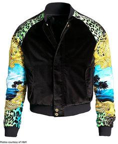 Silk & Velvet Versace x H & M Men's Jacket - I want!