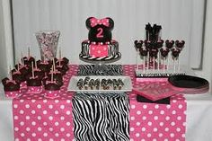 Minnie Mouse Birthday Party Display Via Girly Girl Parties Lia Turns 2 In September