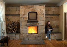 Masonry heater with oven. By Empire Masonry Heater.