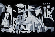 Pablo Picasso - Guernica, 1937.   Had the pleasure of seeing the real thing recently :)