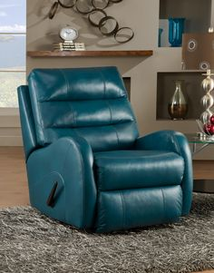 Krypto Power Wall Hugger Recliner with Modern Style by Souther Motion.  Available at Turk Furniture. http://www.turkfurniture.com