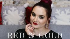 Holiday Makeup Tutorial ❅ RED & GOLD GLAM    Maria Dumitrescu Holiday Makeup, Red Gold, Youtube, Travel Makeup, Youtubers, Youtube Movies