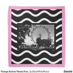 Find classic Vintage bandanas and handkerchiefs on Zazzle. Vienna Prater, Vintage Bandana, Kerchief, Austria, Vintage Photos, Tapestry, Bandanas, Classic, Black