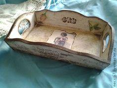 Кухня ручной работы. Ярмарка Мастеров - ручная работа Поднос в стиле шебби шик Милый ангелПродан... Handmade.