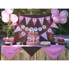 Cowgirl Birthday Party Printable Collection Girls Themes Decorations