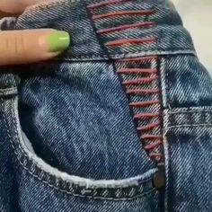 Sewing Hacks, Sewing Tutorials, Sewing Crafts, Sewing Patterns, Sewing Diy, Couture Embroidery, Embroidery Fashion, Couture Sewing, Simple Embroidery Designs