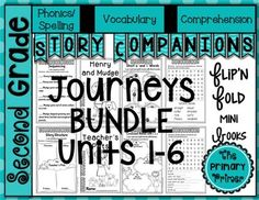 Story Companions are a fun and easy way to reinforce the weekly skills in the Journeys reading series.  This Second Grade BUNDLE contains all of the stories for the 2011 and 2014 adoptions.  Each Story Companion has a spelling/phonics, vocabulary, and comprehension component.