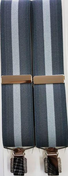 Rayas central gris 6648 35 C01 pinza sencilla plateada