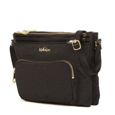 April Crossbody Bag - Black Patent Combo | Kipling