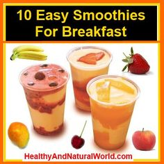 Easy Smoothies for Breakfast