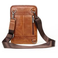 KRPENRIO Sling Bag Genuine Leather Chest Bag Crossbody Shoulder Business Backpack Outdoor Color : Black Yellow