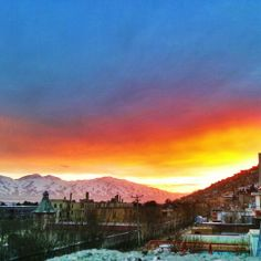 Sunset in Kabul Afghanistan!