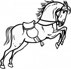 Coloriage cheval à colorier - Dessin à imprimer