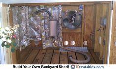 Generator shed enclosure Exhaust Fan Setup.