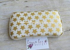 READY TO SHIP Metallic Gold Stars on Cream by LauraLeeDesigns108