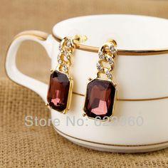 New Designs 2013 Fashion Graceful Glass Stud Earrings $3.34