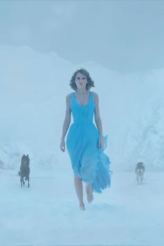 Taylor Swift Blue High-Low Homecoming Dress Film Clip Out of the Woods