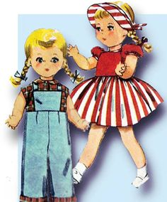 Simplicity Pattern 4509 Charming Doll Clothes Pattern for a 22 Inch Saucy Walker…