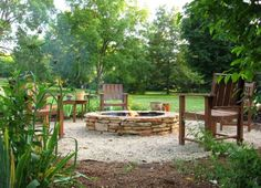 Stacked Stone DIY Fire Pit | 15 Easy DIY Fire Pit Ideas | On A Budget Backyard Fire Pit Designs for a Beautiful & Welcoming Spot