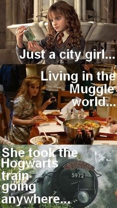 Hermione don't stop believing haha