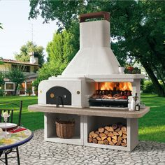 We have talked about pergola, gazebo, porch and garden furniture, we want now to. Design Barbecue, Grill Design, Pizza Oven Outdoor, Outdoor Cooking, Parrilla Exterior, Brick Bbq, Patio Grill, Bbq Grill, Bbq Area
