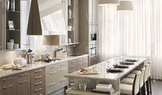 contemporary kitchen design via downsviewkitchens.com #kitchens