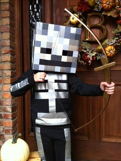Homemade Minecraft Skeleton costume